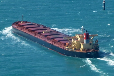 "MV ""CAPE PROVENCE"" in laden condition (Image source: www.shipspotting.com)"