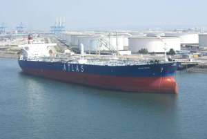 "MT ""ATLAS VALOR"" - Aframax tanker built in 1999 at Koyo Dock K.K."